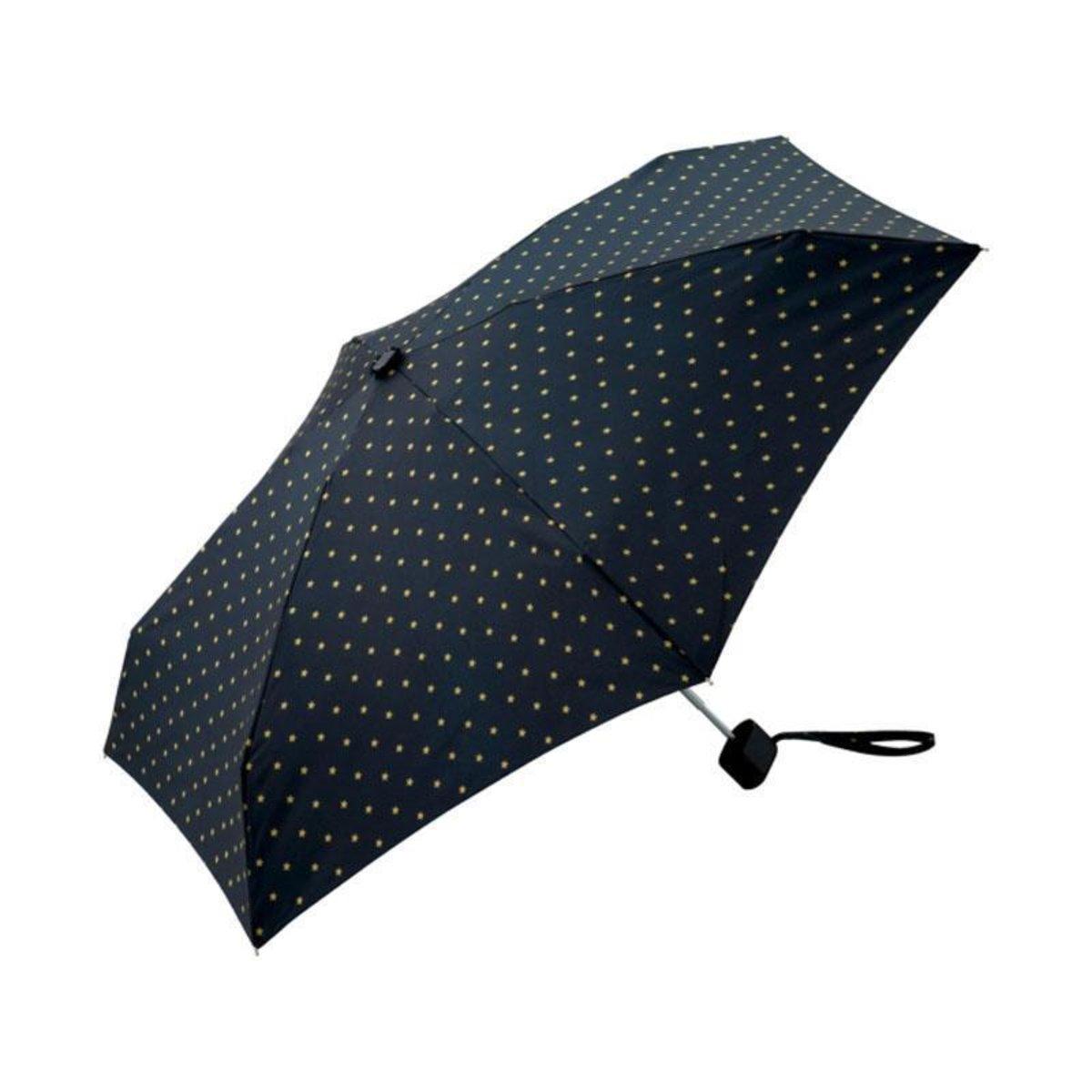 KiU Tiny Mini shifty cover anti-UV umbrella brand in Japan - Black Star Dot Star