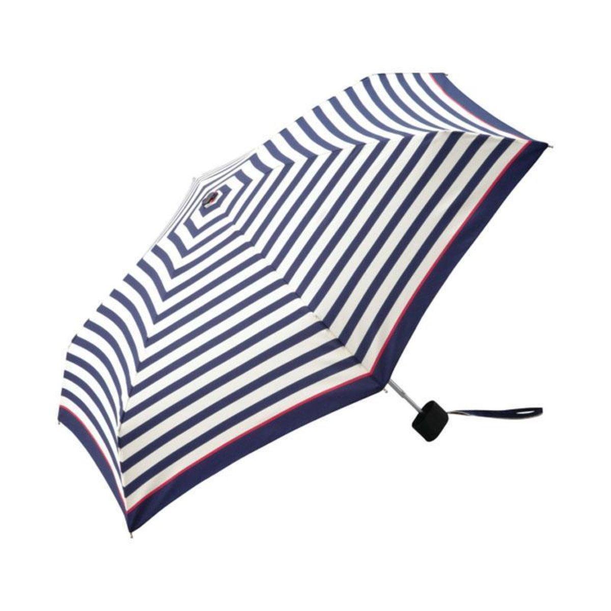 KiU Tiny 迷你縮骨遮 防UV雨傘 日本品牌 - 藍白條紋 Line Border