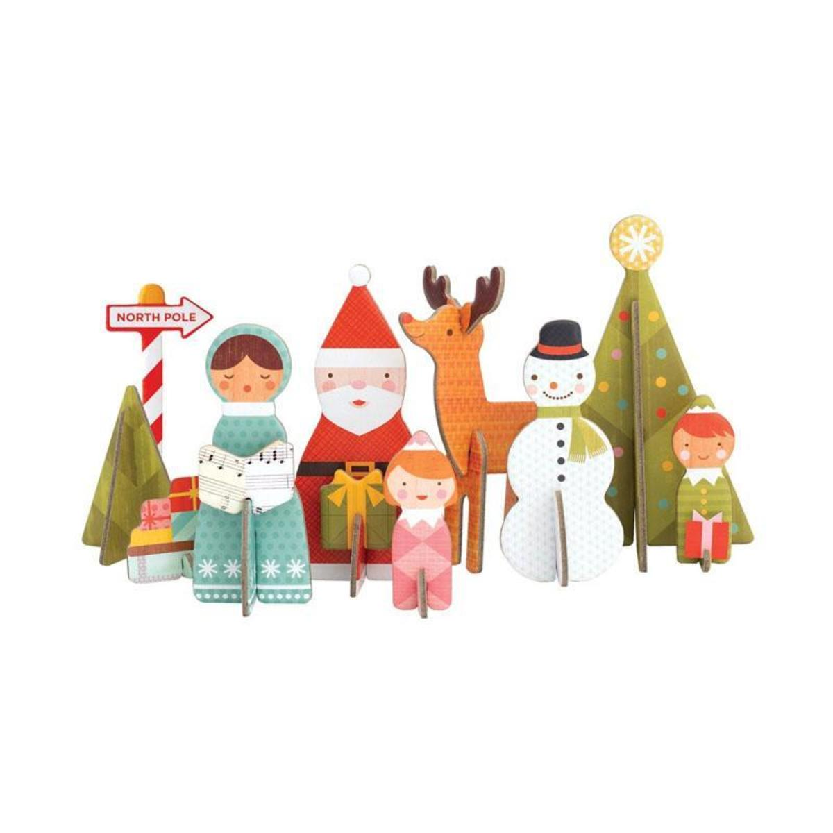Pop-out & Play 3D Assembly Jigsaw Series (9 models) - Christmas Winter Paradise