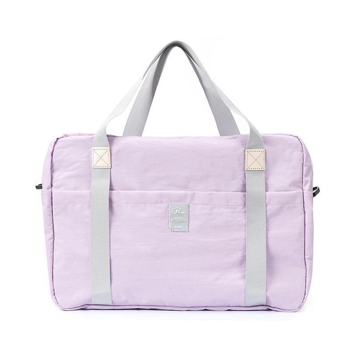 P. Travel nylon waterproof folding travel storage bag - Light purple