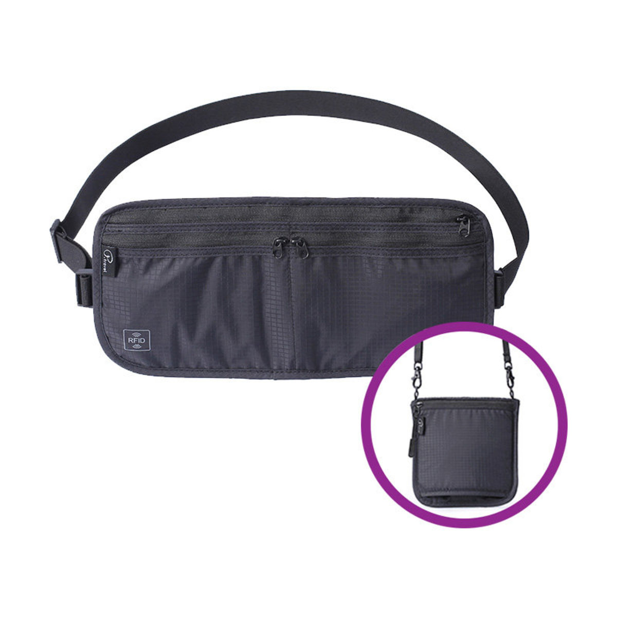 RFID invisible security bag 2-way