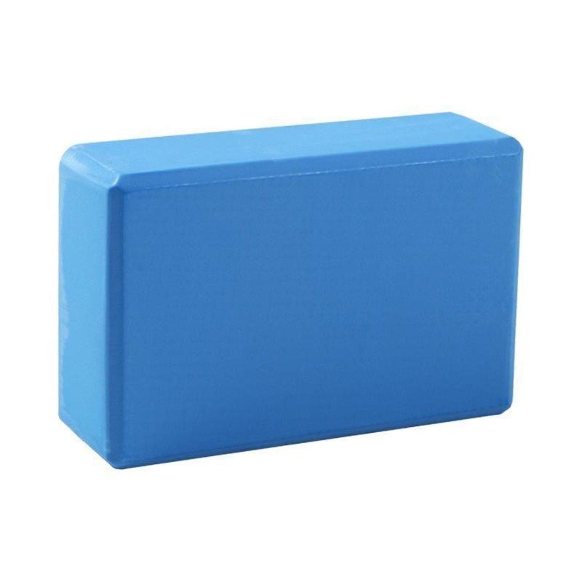 EVA 高密度瑜伽磚 (粉紅/藍/紫) - 藍色