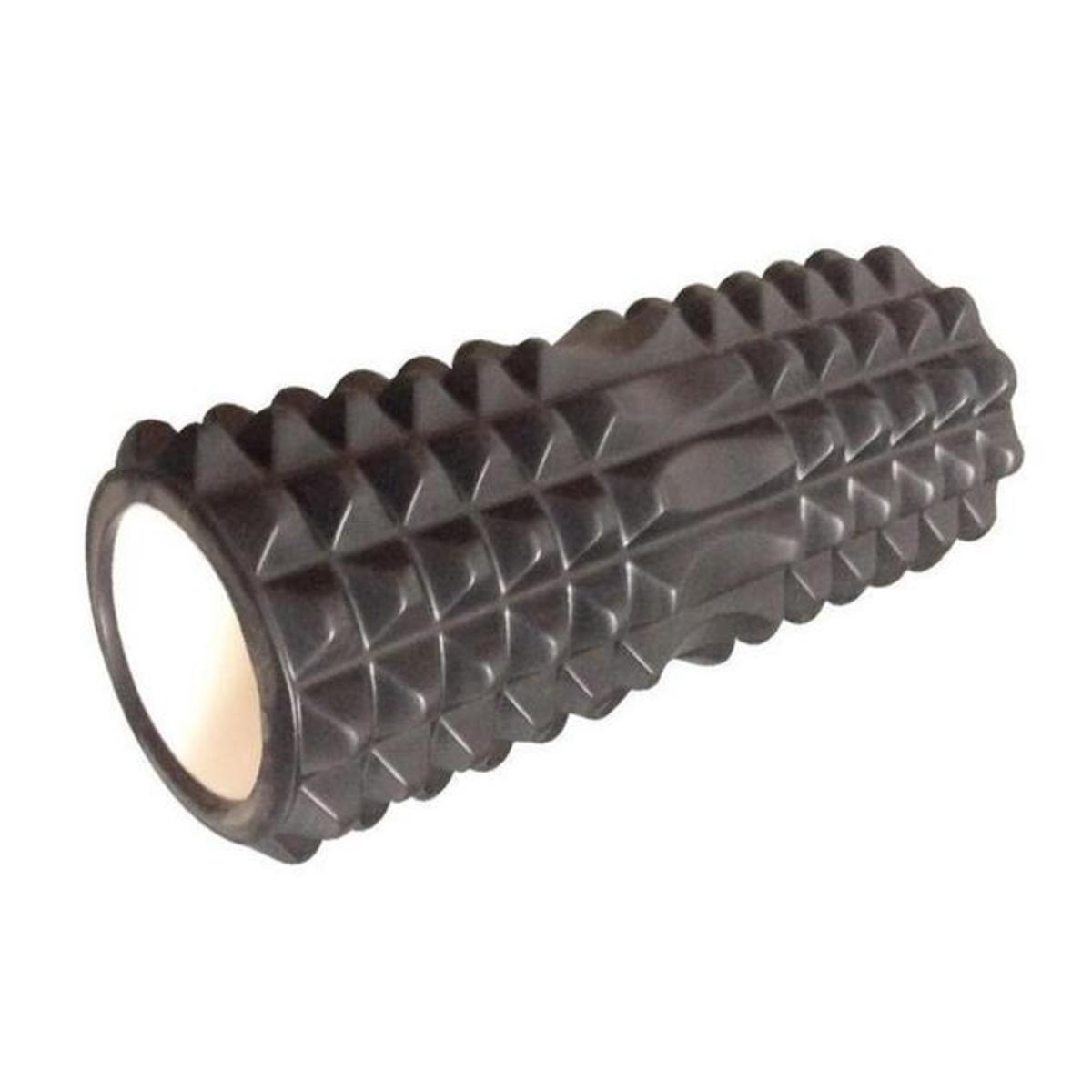 EVA月牙形空心瑜伽柱 瑜伽棒 (黑/藍/紫/粉紅) - 黑色