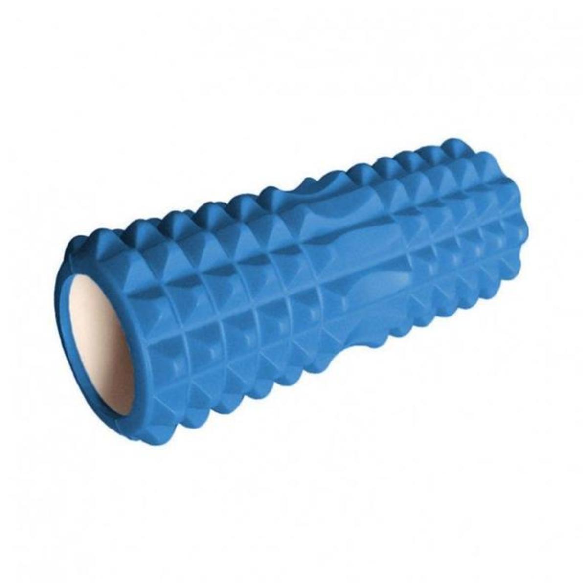 EVA月牙形空心瑜伽柱 瑜伽棒 (黑/藍/紫/粉紅) - 藍色