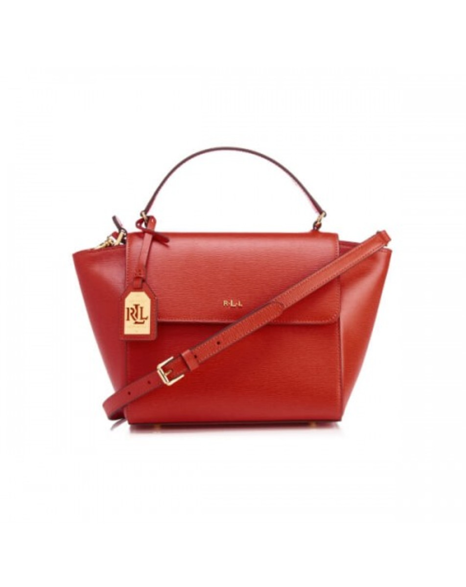 RALPH LAUREN LEATHER BARCLAY CROSSBODY BAG 女裝皮革斜挎包 (紅色) LAU-431644275-004
