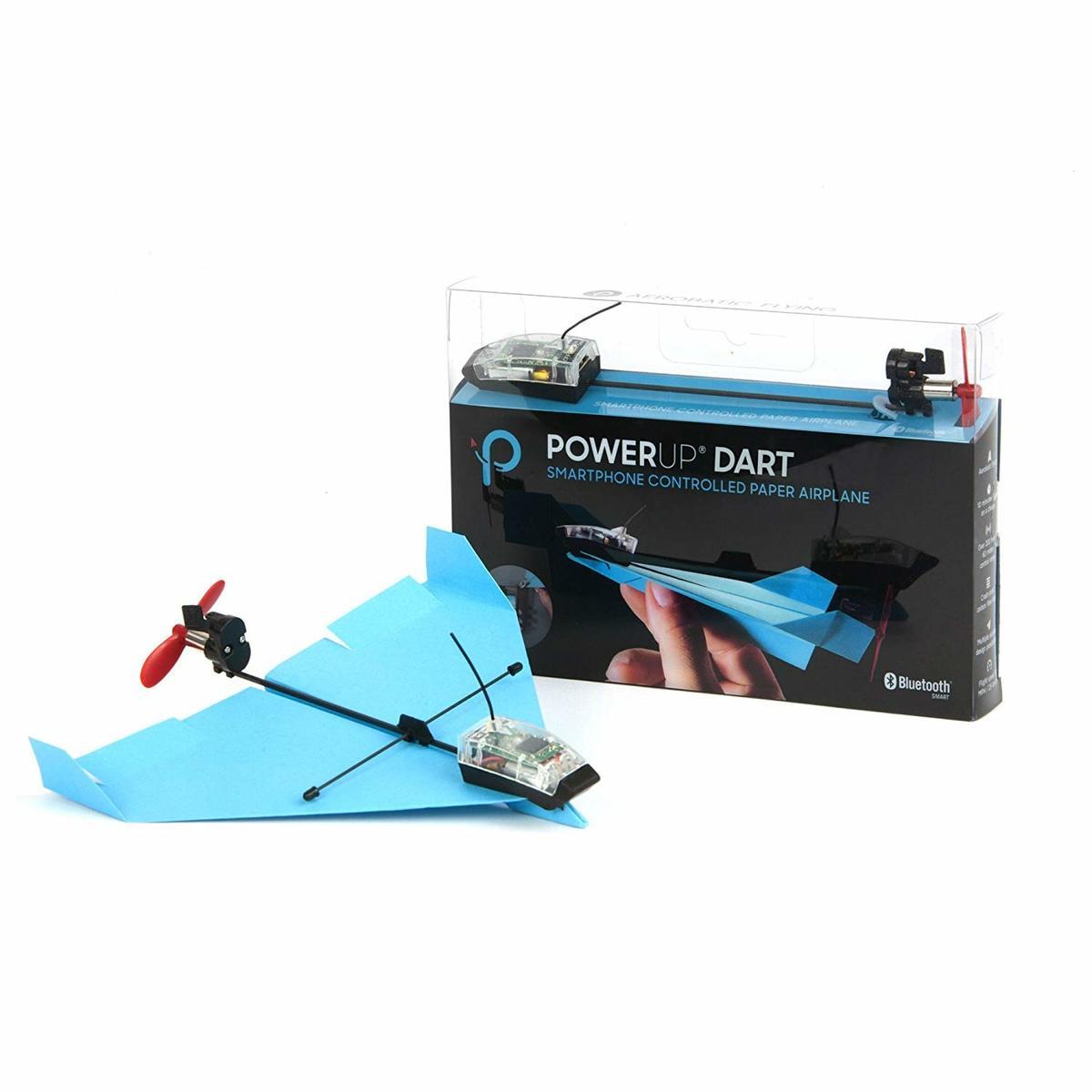 Dart 特技智能紙飛機手機控製玩具套件Android/iOS 藍色