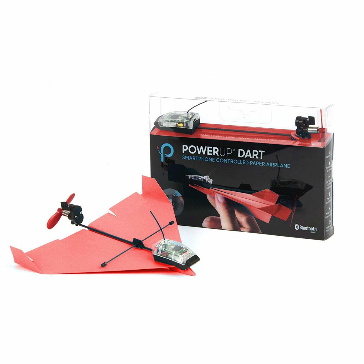 Dart 特技智能紙飛機手機控製玩具套件Android/iOS 紅色