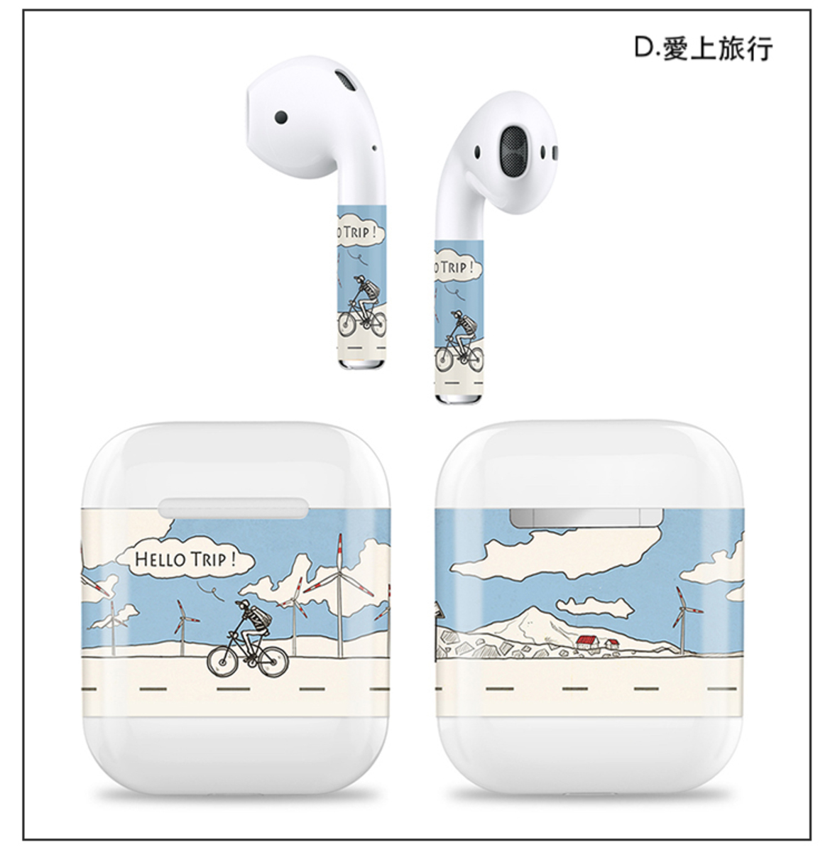 AhaStyle Decal Skins Sticker for Apple Airpods Style D