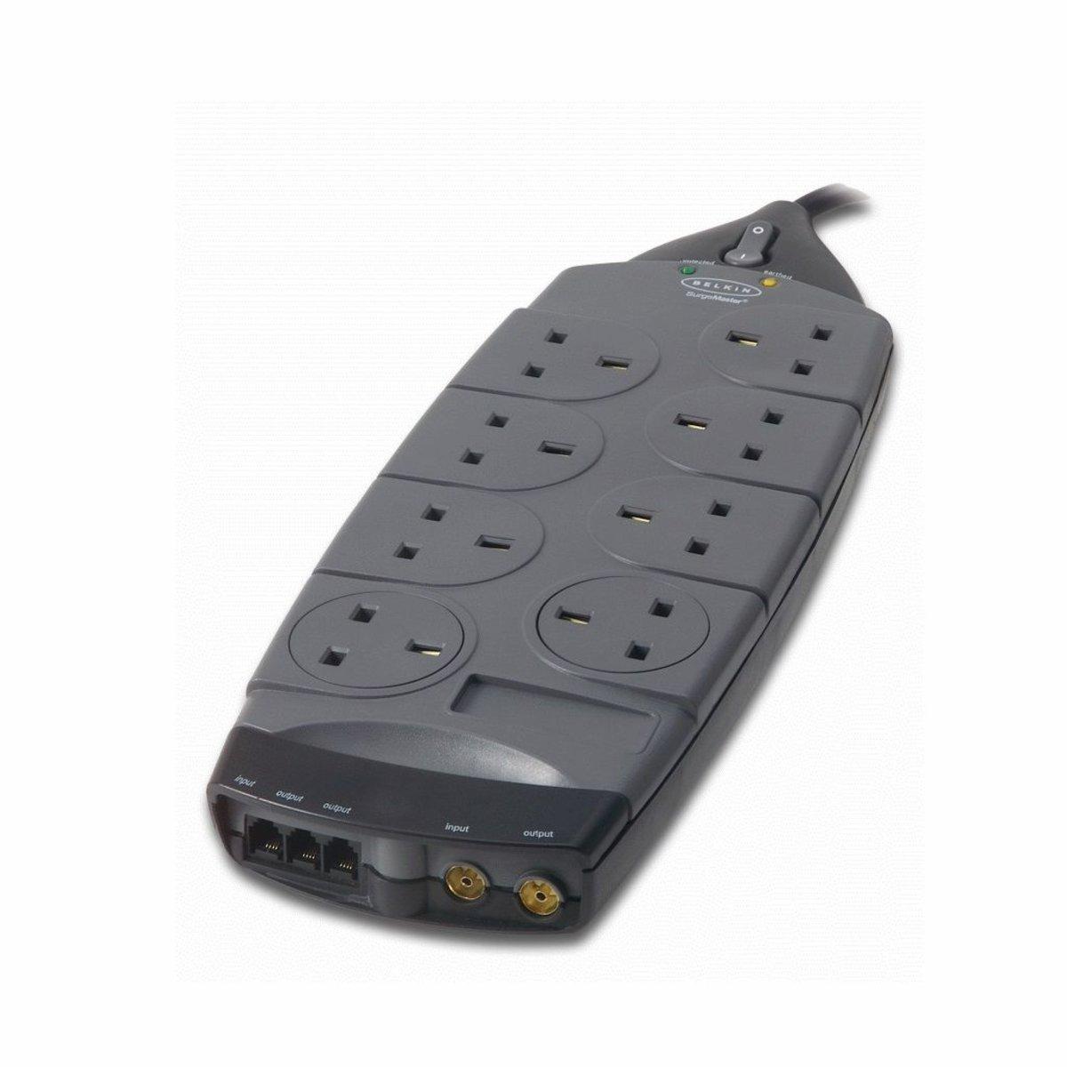 Gold Series 8-Socket Surge Protector F9G823sa4M-GRY