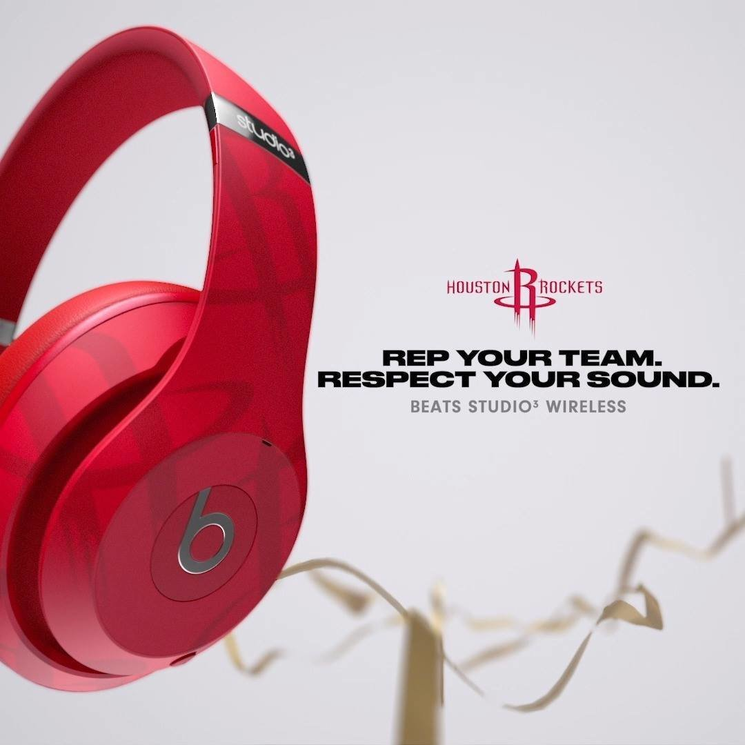Beats Studio3 Wireless Over Ear Headphones Nba Collection Rockets Red Hktvmall Online Shopping
