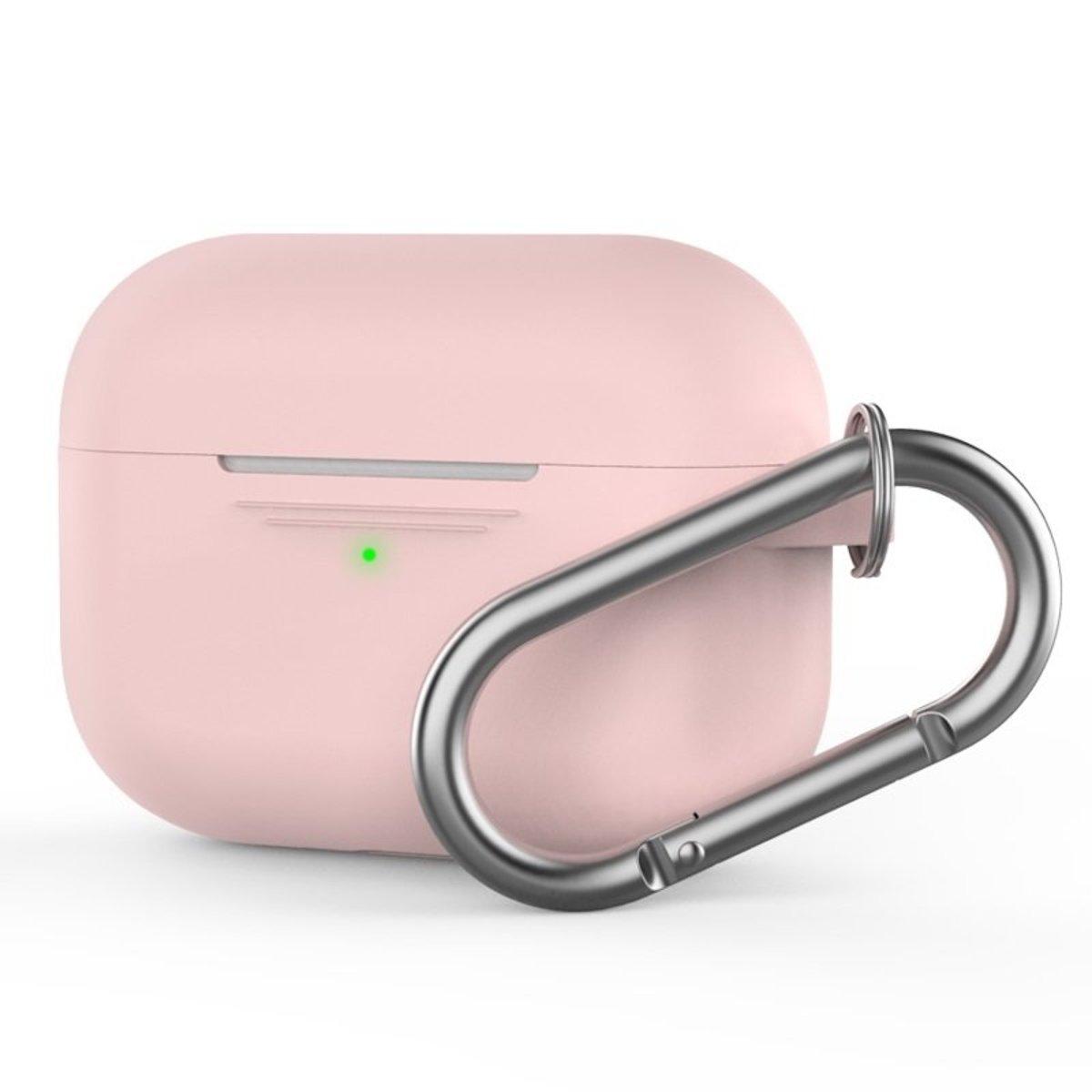 香港行貨 AirPods Pro 1.4mm 超薄矽膠連 掛鉤款保護套 粉紅色