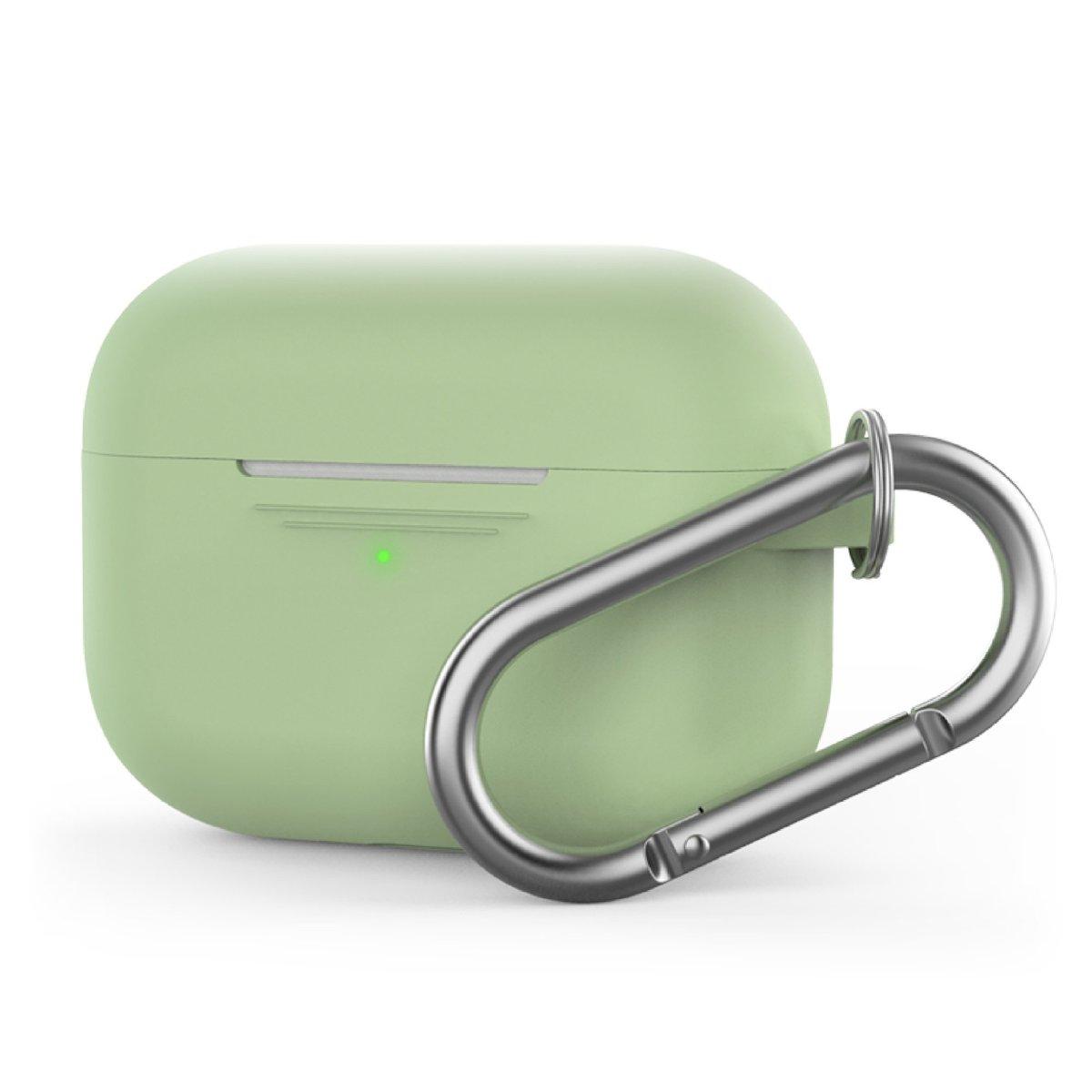 香港行貨 AirPods Pro 1.4mm 超薄矽膠連 掛鉤款保護套 酪梨綠色