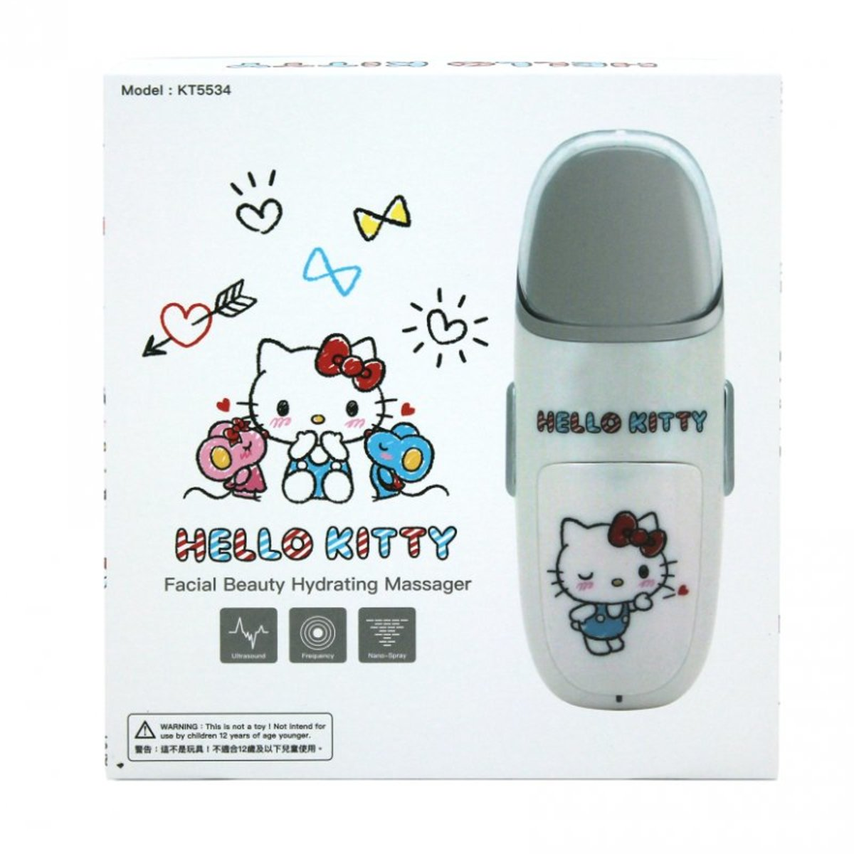 [香港保修] Disney/Saniro系列 噴霧按摩加濕美容儀 hello kitty
