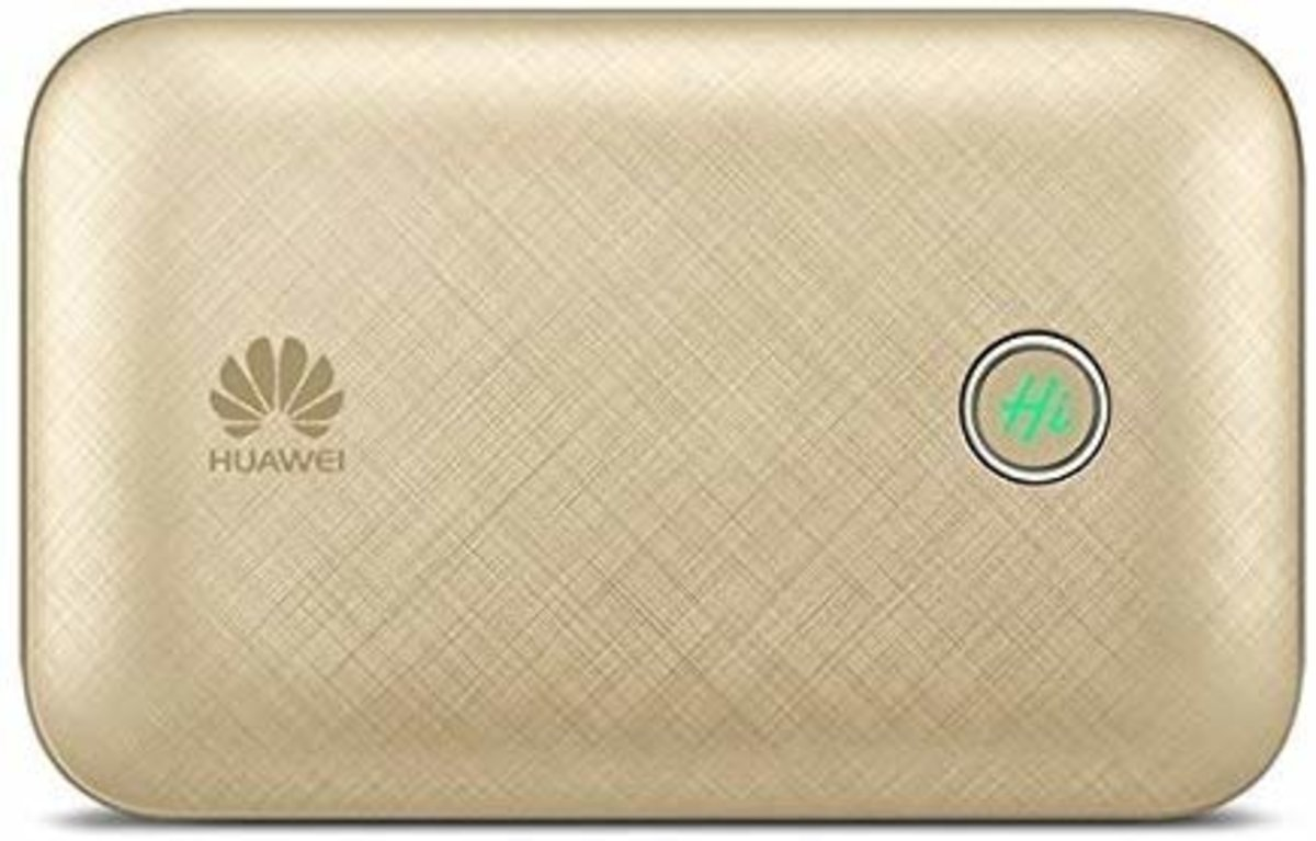 Hong Kong warranty E5771h-937 4G Worldwide Pocket Wifi Wireless Router + 9600mAh Power Bank Gold