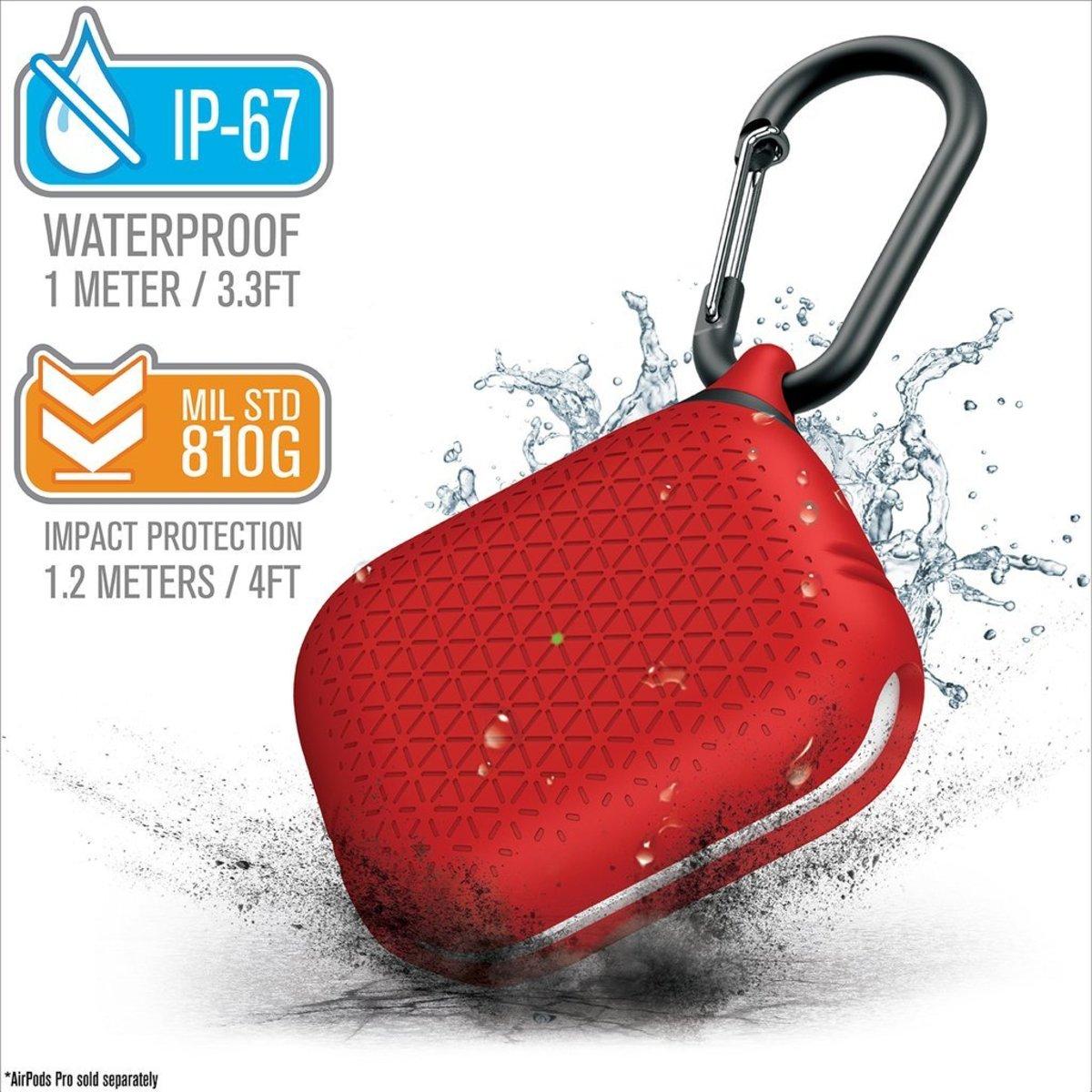 香港行貨 IP67 防水 防撞 保護套 Airpods Pro 加強板 Premium Flame Red