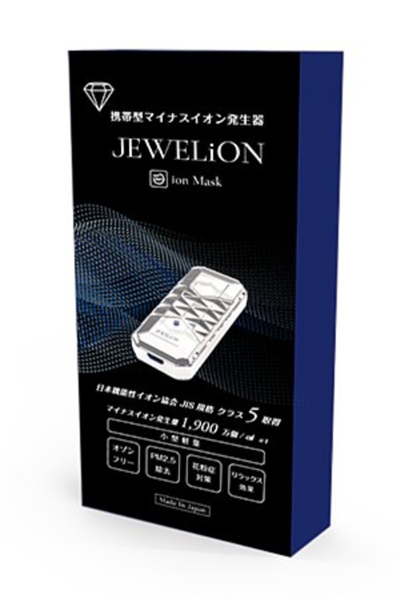 HK Warranty JAPAN ion mask portable anion air purifier White