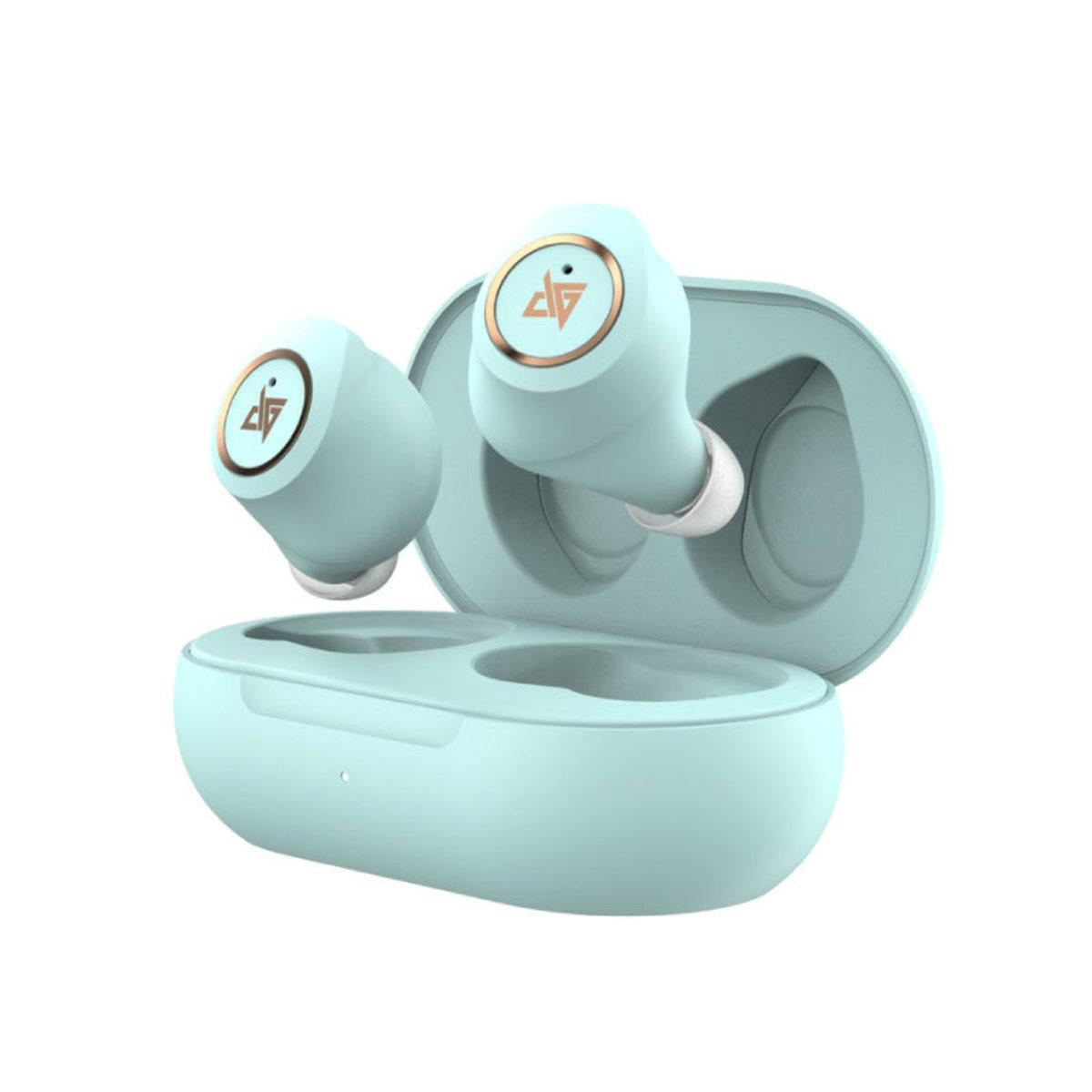 香港正貨 AT200真無線雙動圈IPX5藍牙5.0入耳式耳機 TEAL