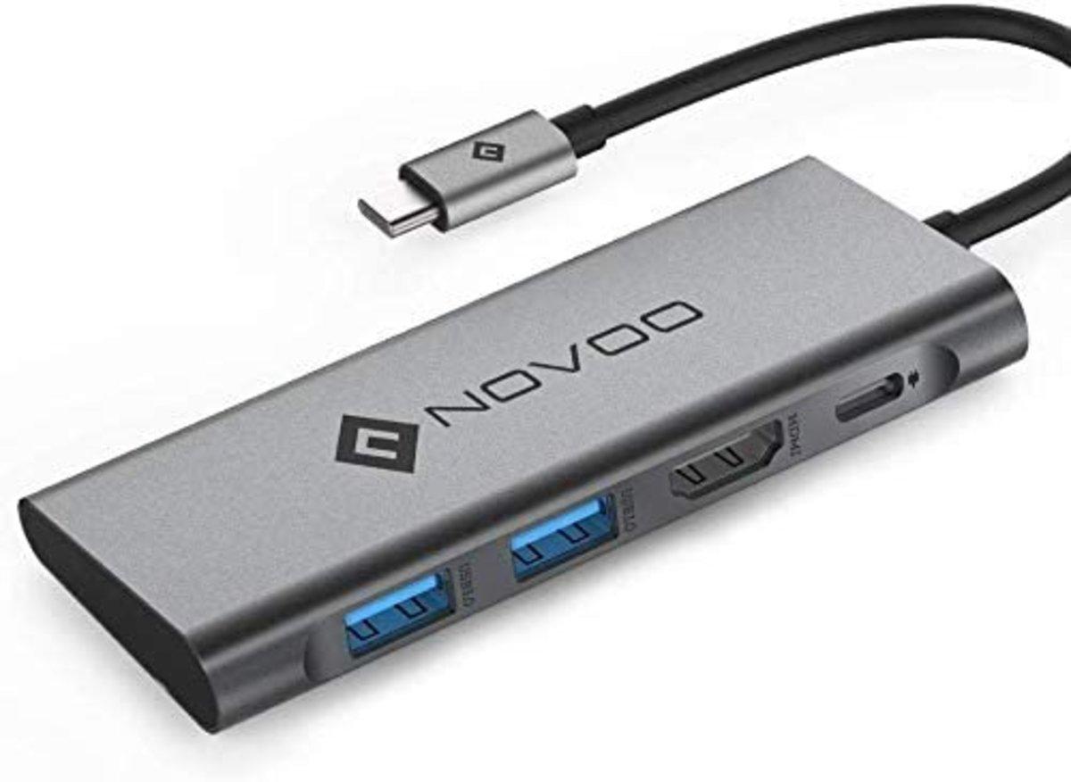 4-in-1 USB C Type C Hub USB 3.0 *2 HDMI 4K Type-C PD 擴展器 4PLX