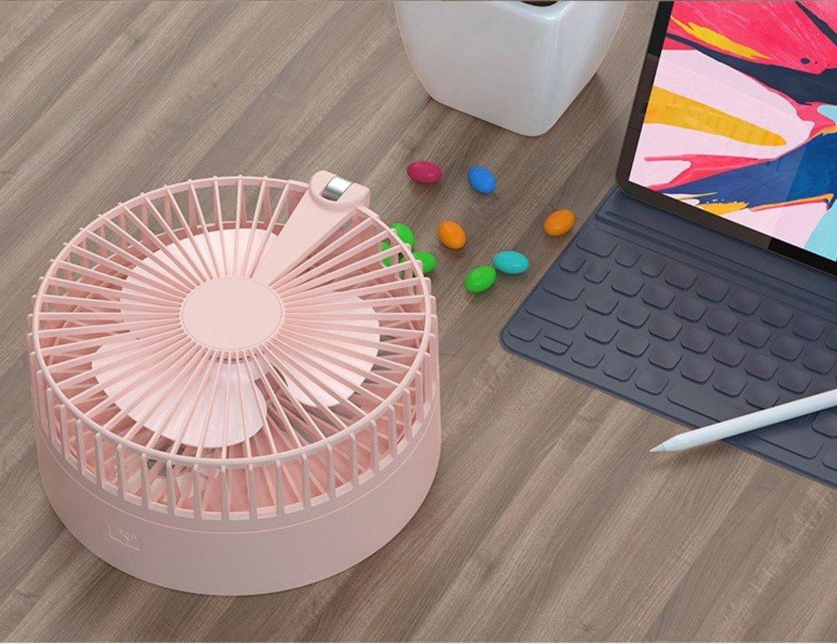 Air Circulating 折疊伸縮隨身攜帶加濕風扇 N97 Pink