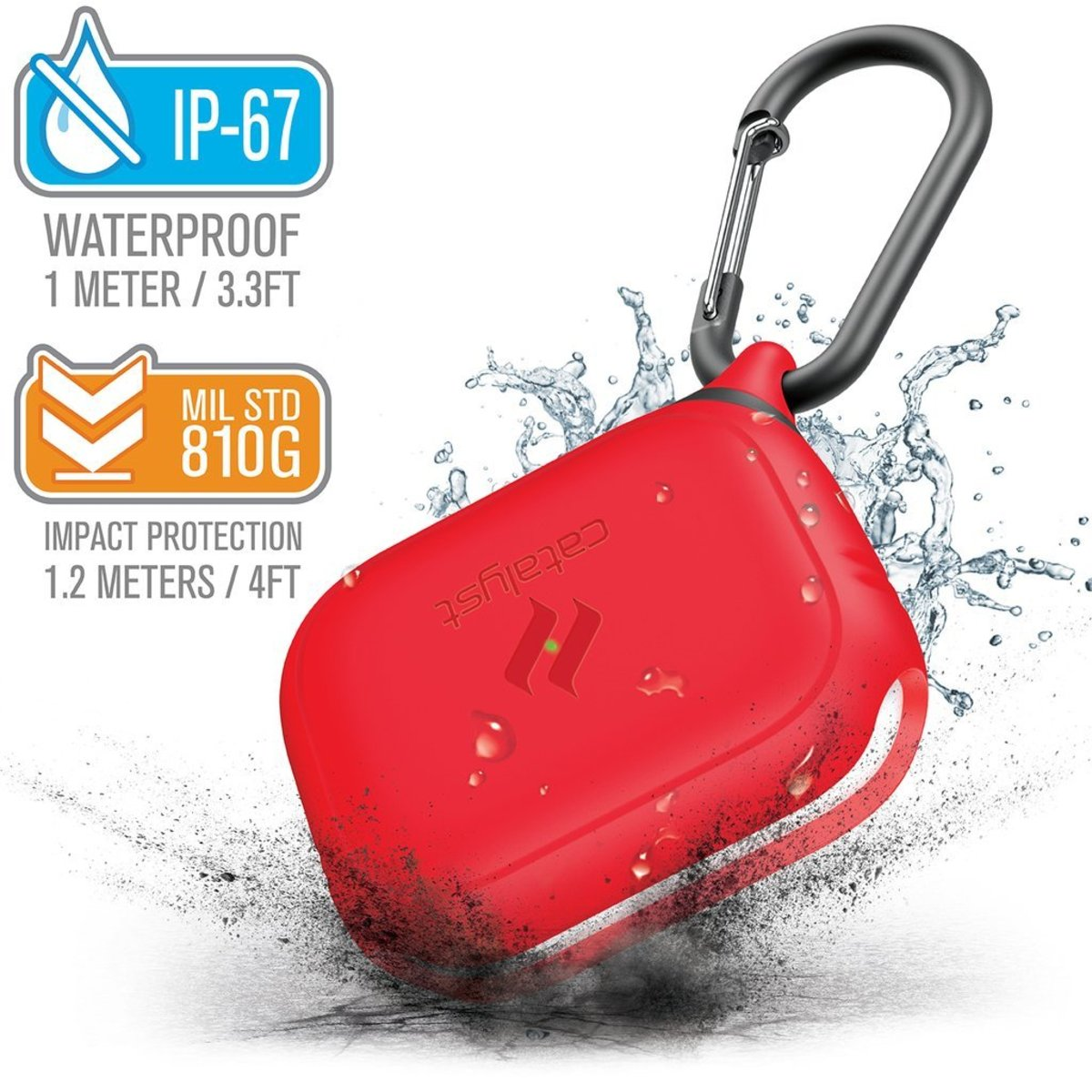 HK Supplier IP67 Waterproof Drop Proof case for airpods Pro Flame Red