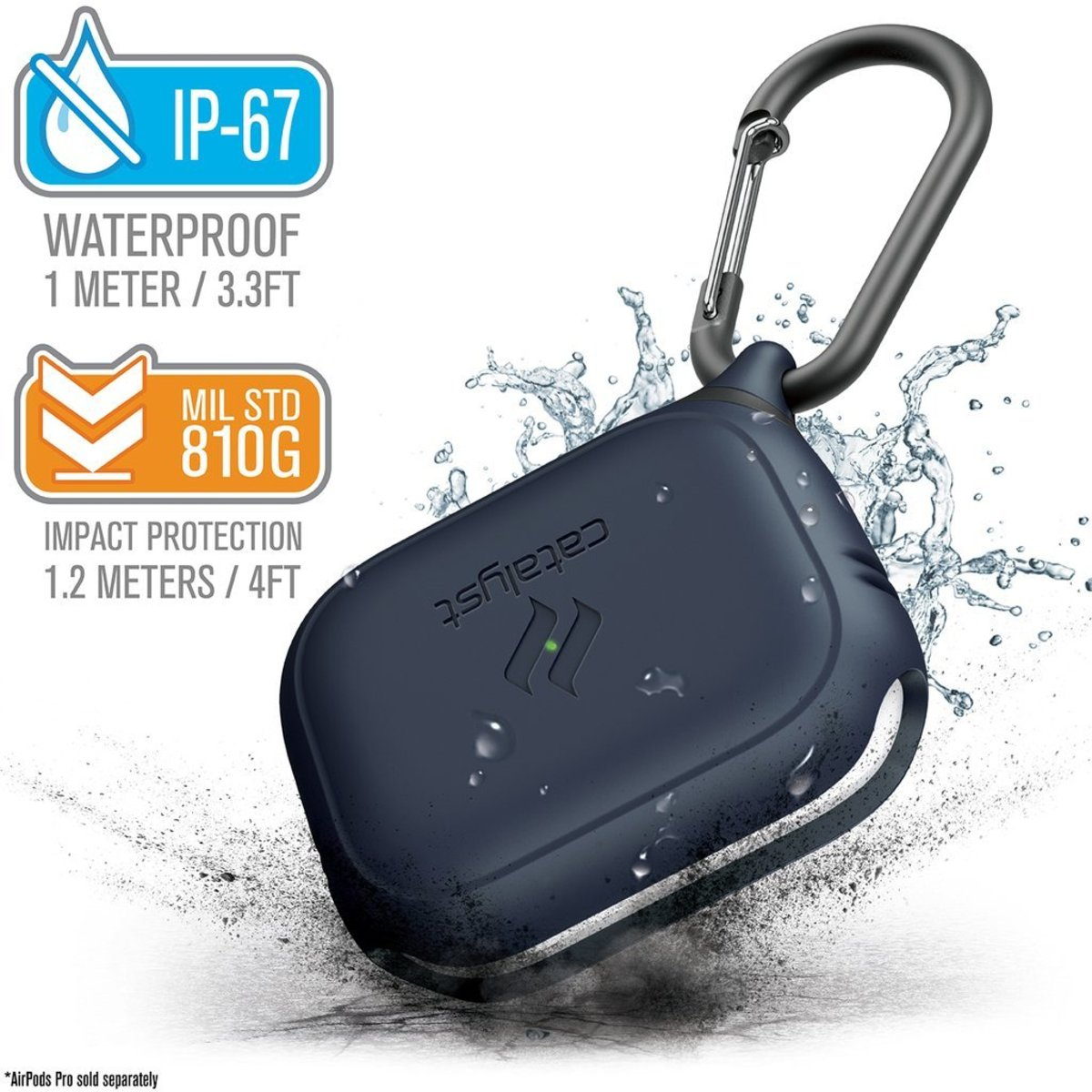 HK Supplier IP67 Waterproof Drop Proof case for airpods Pro Midnight Blue