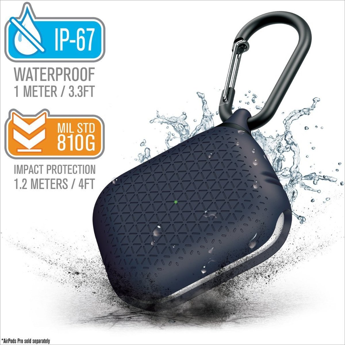 HK Supplier IP67 Waterproof Drop Proof case for airpods Pro Premium Midnight Blue