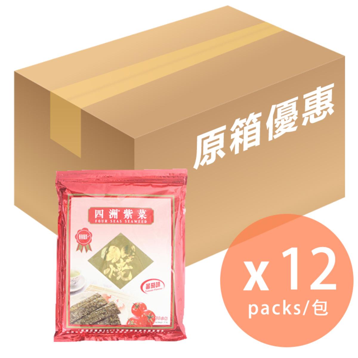 [Full Case]Tomato Seaweed 50 packs x 12 (4892616019677_12)