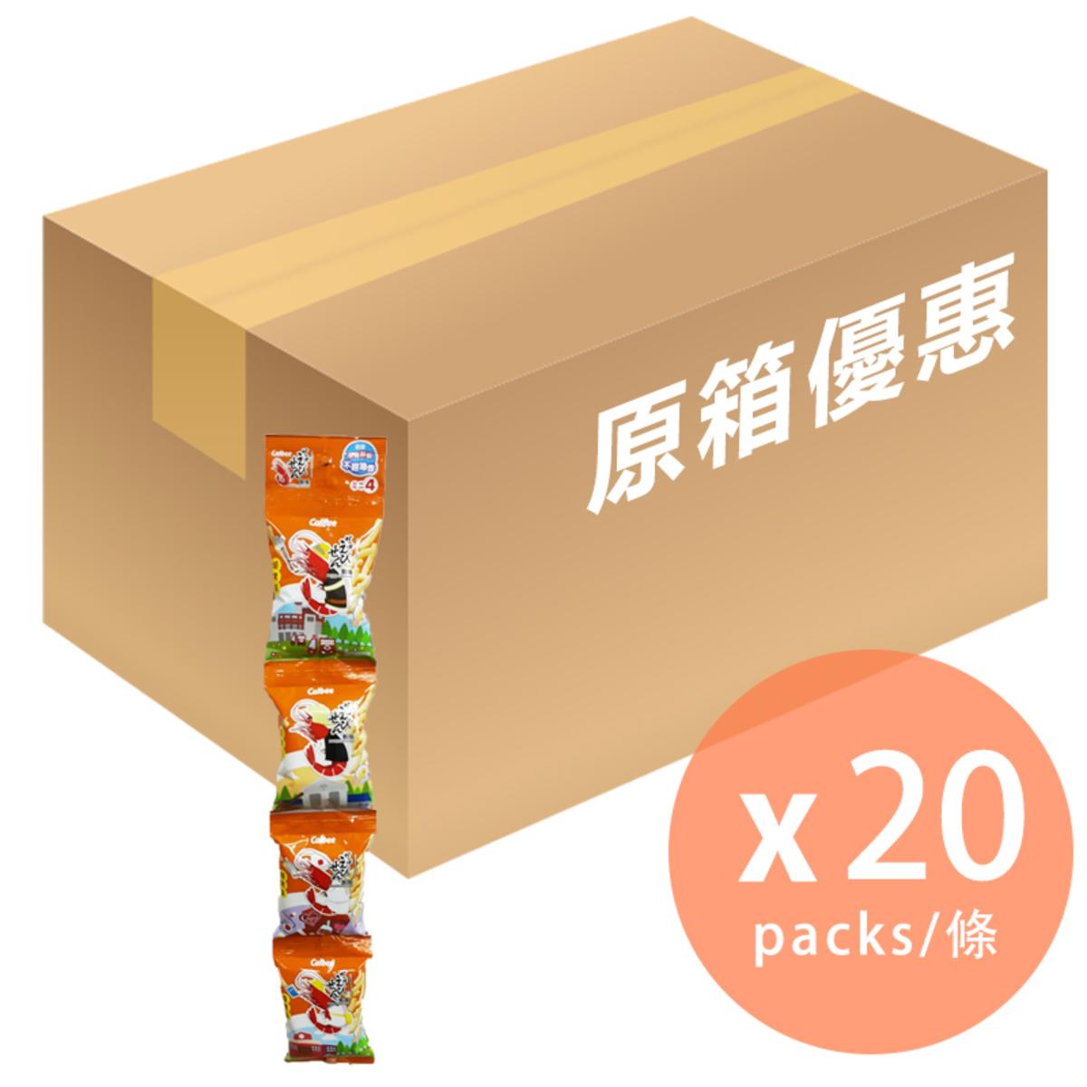 [原箱] 燒烤BBQ味蝦條4連包 - 56g x 20 (4892294102234_20)