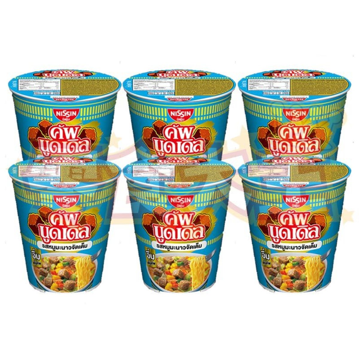 MOO MANAO Cup Noodles 60g x 6 (8852528004099_6)