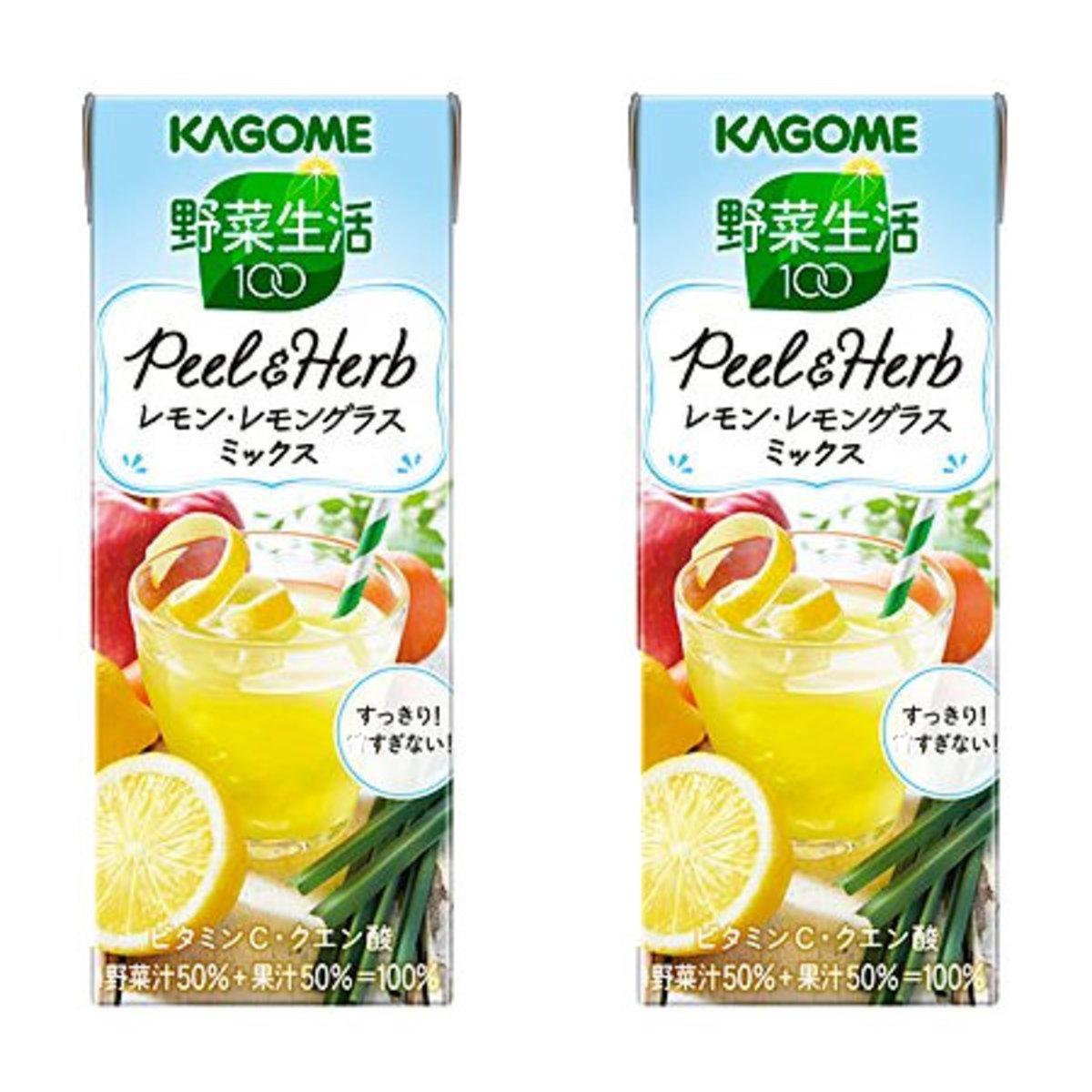 100% Peel&Herb Lemon Juice 195ml x 2  (4901306072851_2) Best Before:13/4/2020