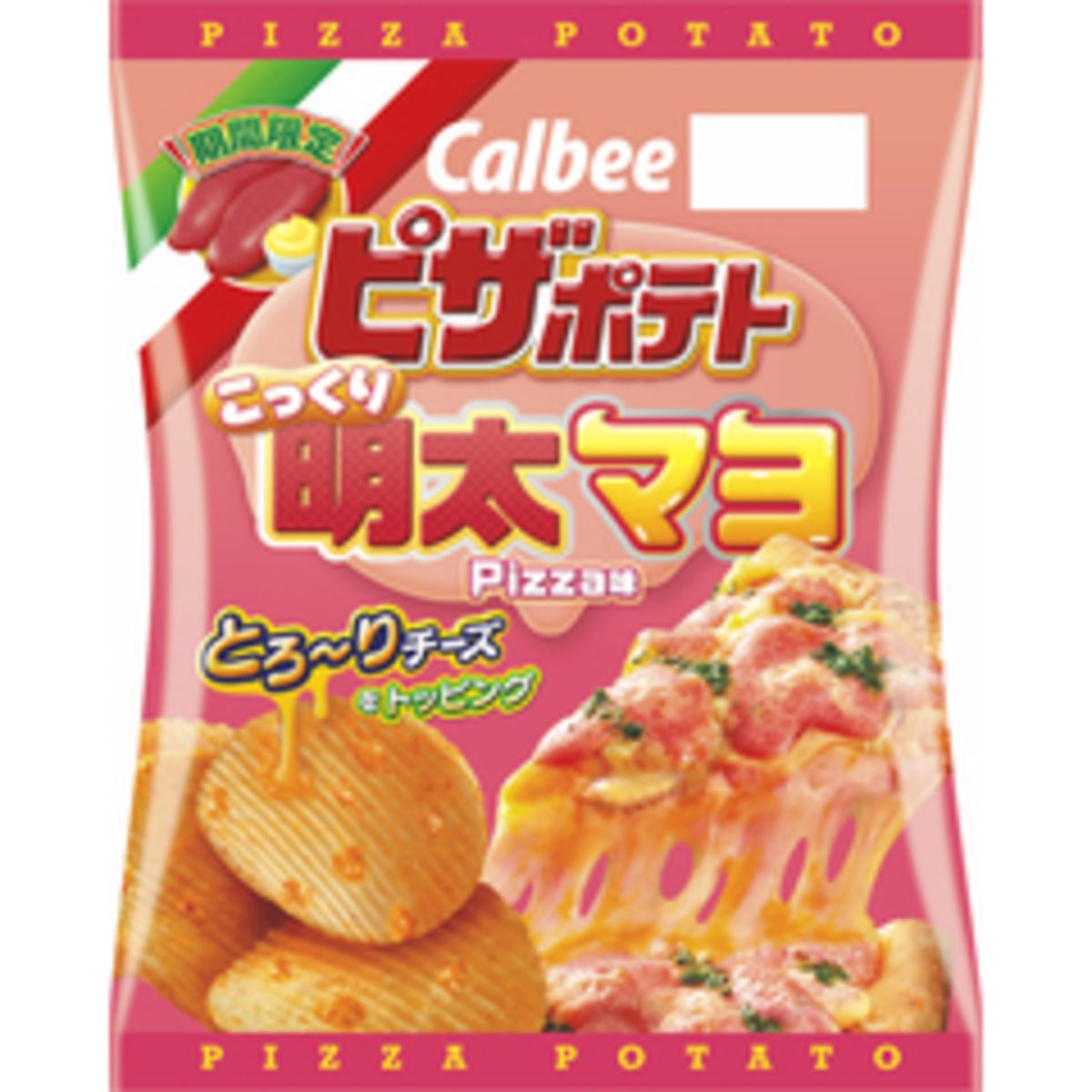 Mentaiko Pizza Flavours Chips 60g  (4901330581138)
