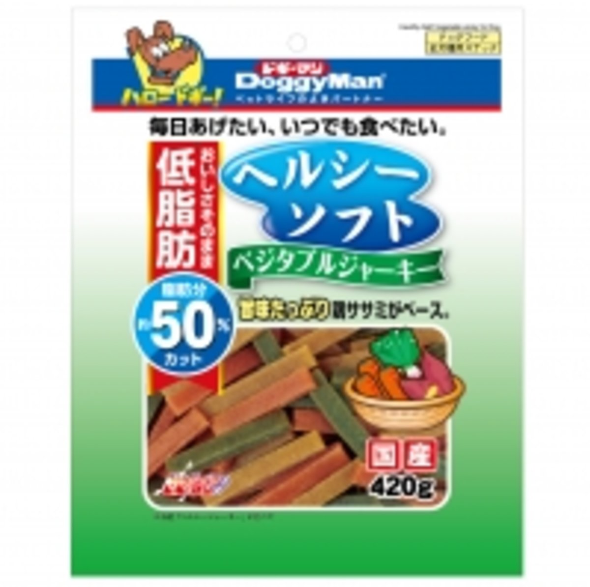DoggyMan 50% Low Fat Soft Strips 420g (4976555820966)