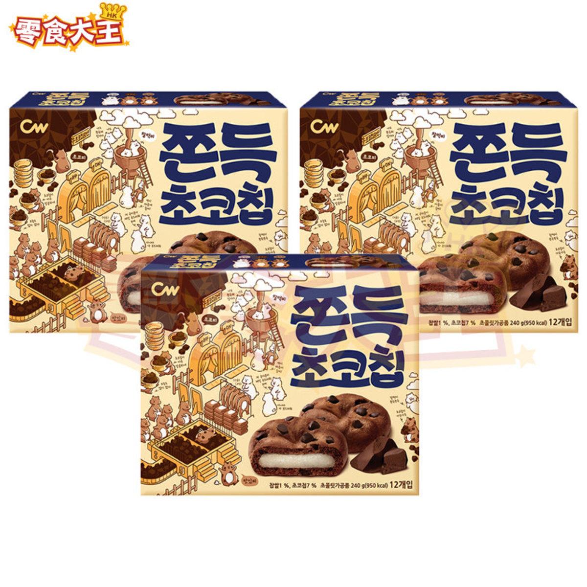 韓國朱古力麻糬曲奇 240g x 3盒 (12個獨立包裝) (8801204008661_3)