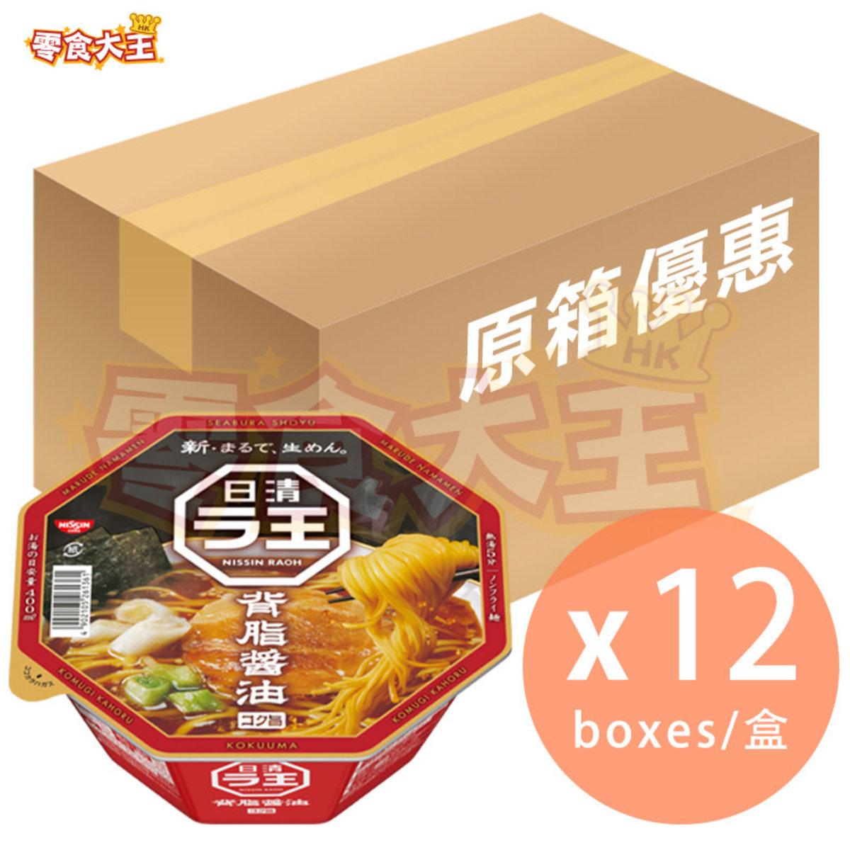 [原箱] 拉王 背脂醬油拉麵 112g x 12盒 (4902105261361_12)