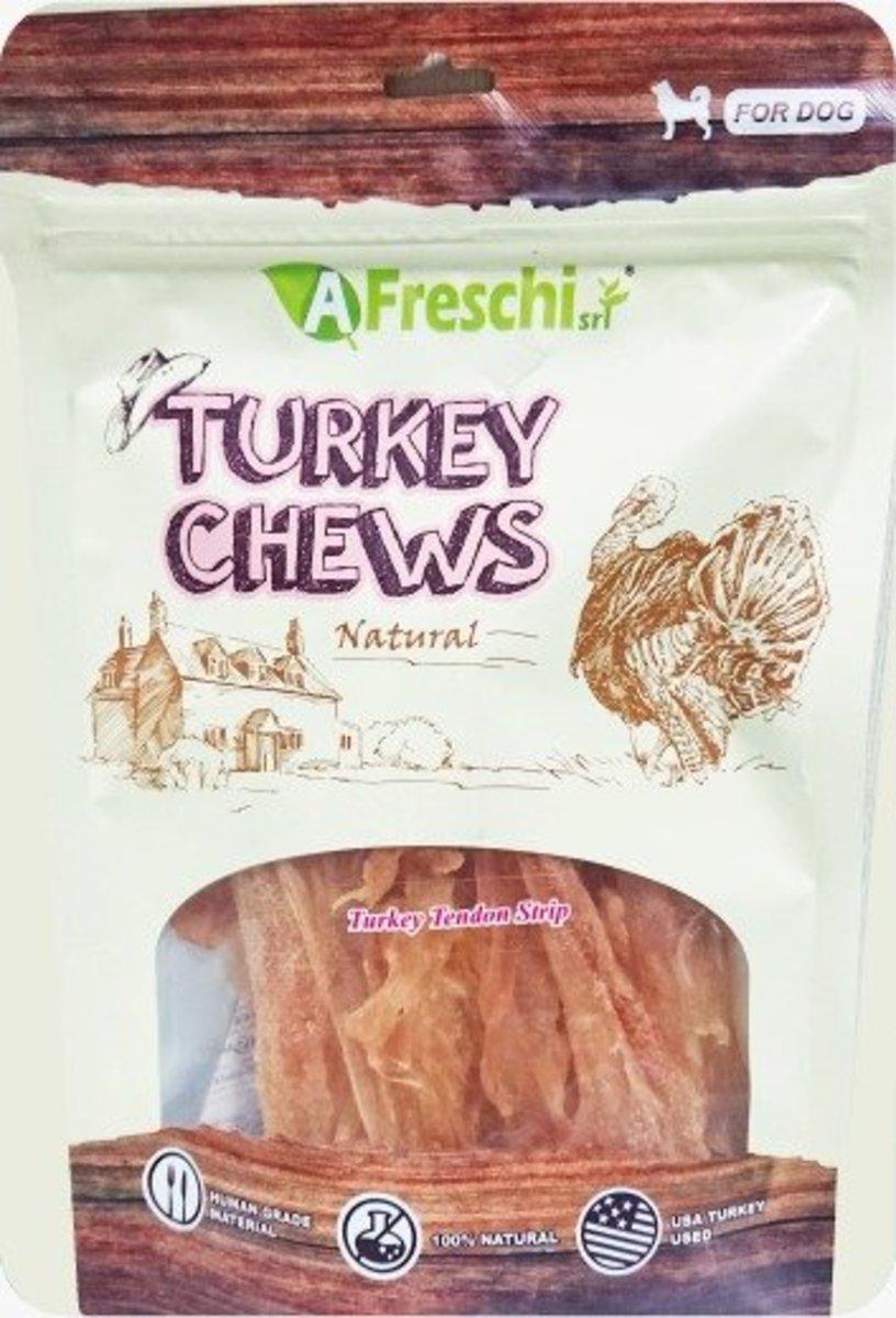 Turkey Tendon Strip Dog Snacks (100g) #AFK104H D6