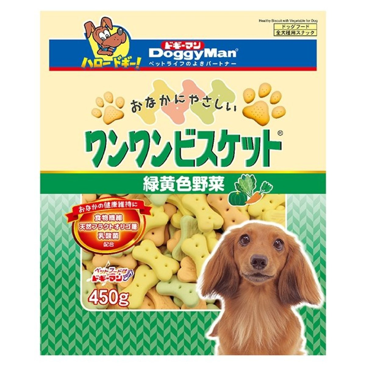 Bowwow Biscuit Green & Yellow Vegetable (450g) #81993 Y