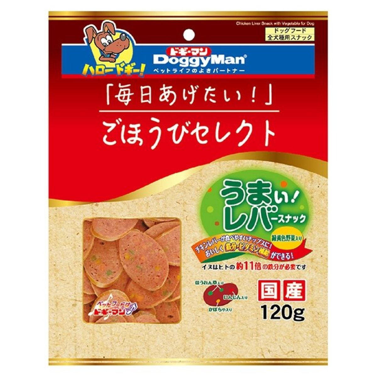 Daily Select Chicken Liver Dog Snack with Vege (120g) #82181 B2