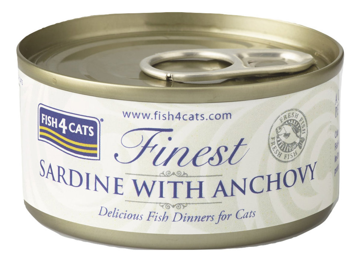 Fineset Sardine with Anchovy Cat Tins (70g) #CSW859/866