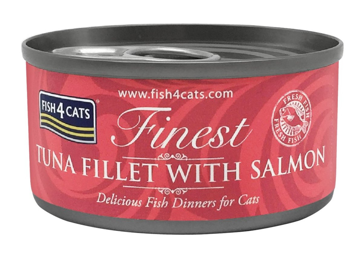 Finest Tuna Fillet with Salmon Cat Tins (70g) #CTW663/657