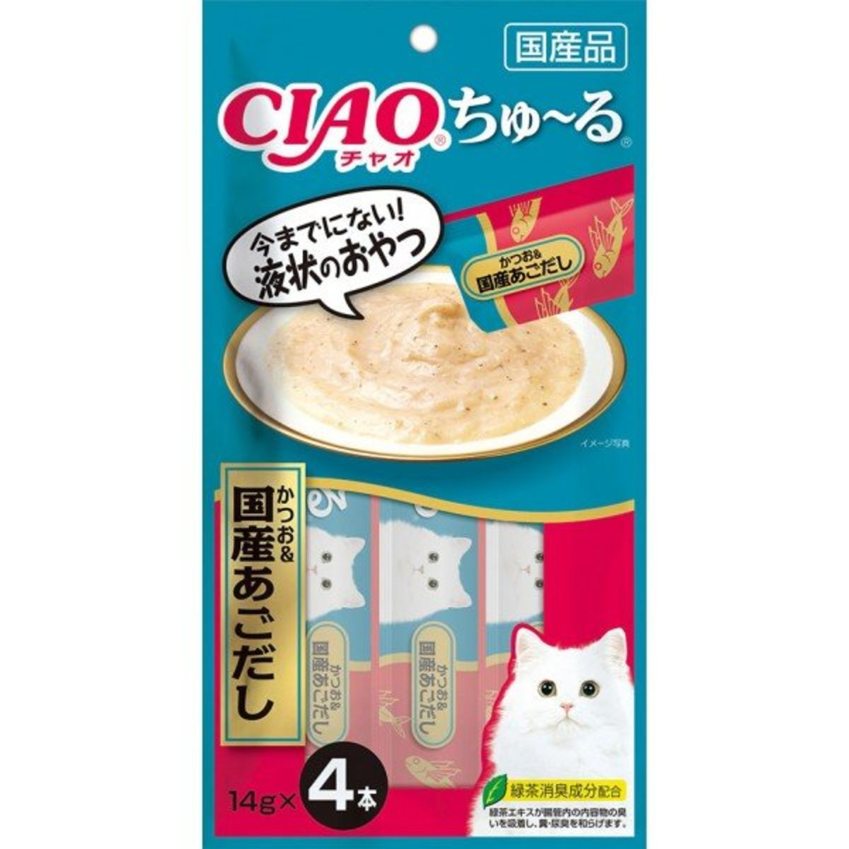 CIAO Churu Tuna & Japenese Flying Fish Puree (14g x 4) #SC-178