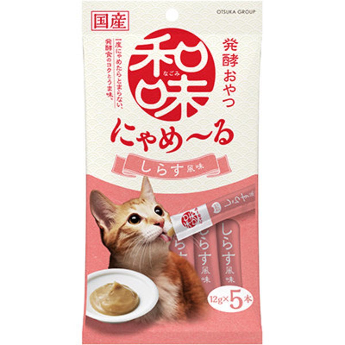 Nyameru Shirasu Flavor Cat Snacks (12g x 5)  #880008_pink