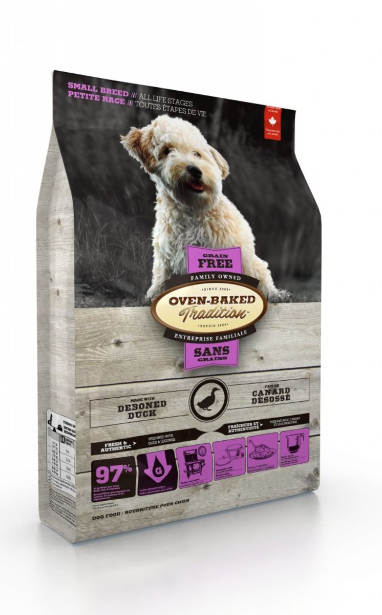 Grain-Free Duck Dog Food for Small Breeds (10lb)