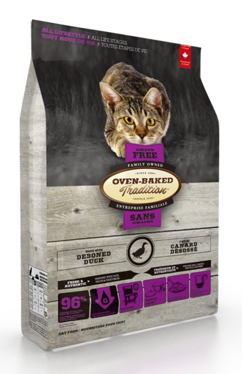 Grain-Free Duck Formula All Stage Dry Cat Food (5lb)