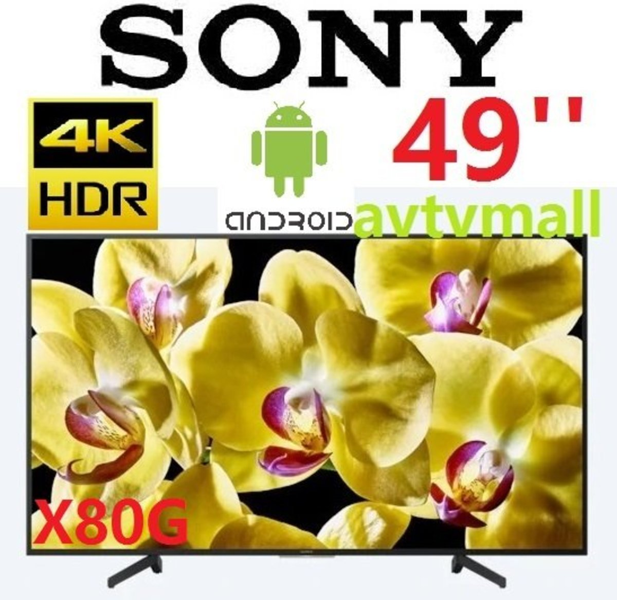 KD-49X8000G 49''4K HDR android TV (3 year warranty)