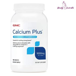 GNC Calcium Plus 1000 含鈣鎂維生素D3 180片  (EXP: 07/22)