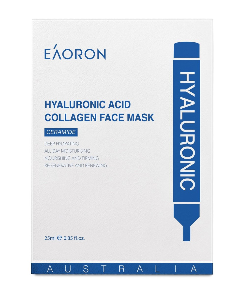 Hyaluronic Acid Collagen Hydrating Face Mask 25ml 5 Piece