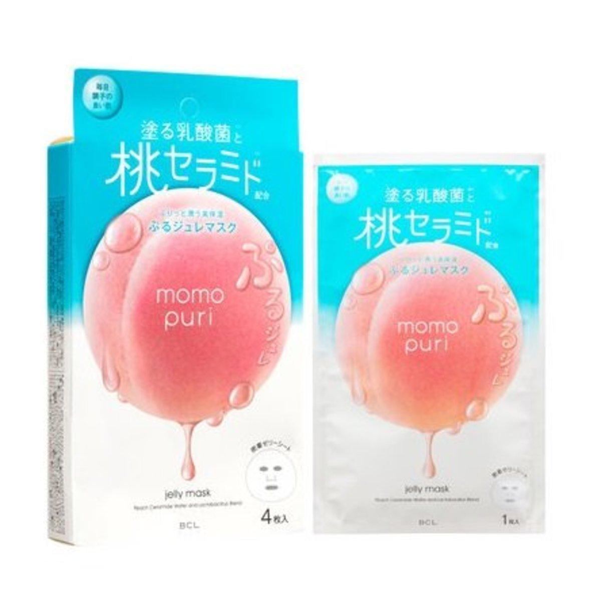 蜜桃保濕果凍面膜 (22ml x 4片)