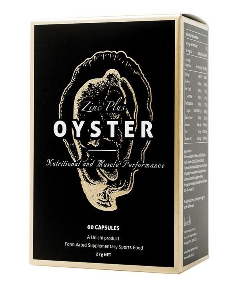 Oyster Extract Plus Zinc 60 Capsules