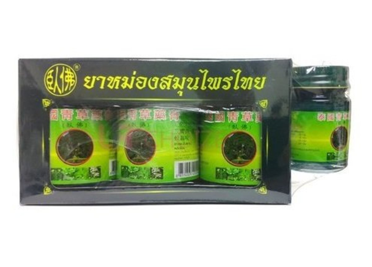 Herbal Balm from Thailand (3x50g + 1x15g)