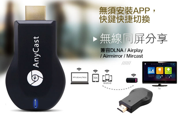Anycast | AnyCast Mini Wi-Fi Display Dongle Receiver (Duo